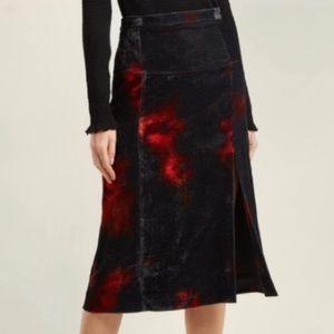 NWOT $995 ALTUZARRA Pennant Velvet Tie Dye Skirt